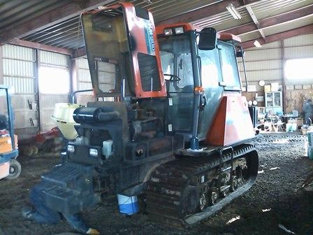 トラクターの整備