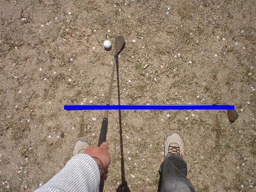 ゴルフ場 目線のライン