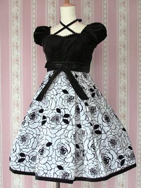 ローズフロッキーリボンドレス 1