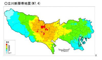 立川断層帯地震