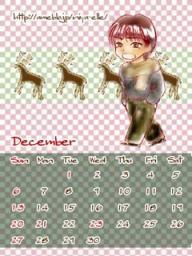 12月カレンダー小