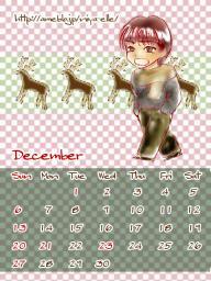 12月カレンダー大