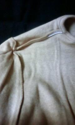 オーガニックコットンシャツ縫い目