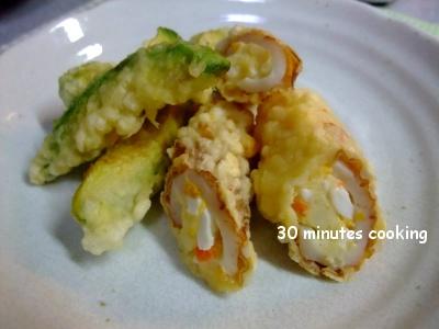 アボカド天ぷら&ちくわのポテトサラダ天ぷら
