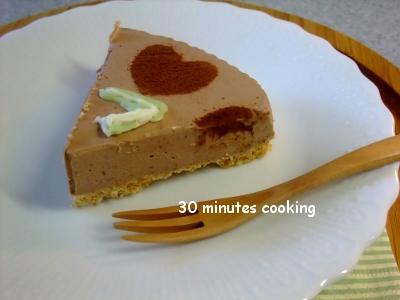 子供と作る濃厚チョコレアチーズケーキとありがとう♪