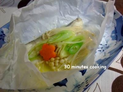 ほんのりバター味DE鱈の包み焼き