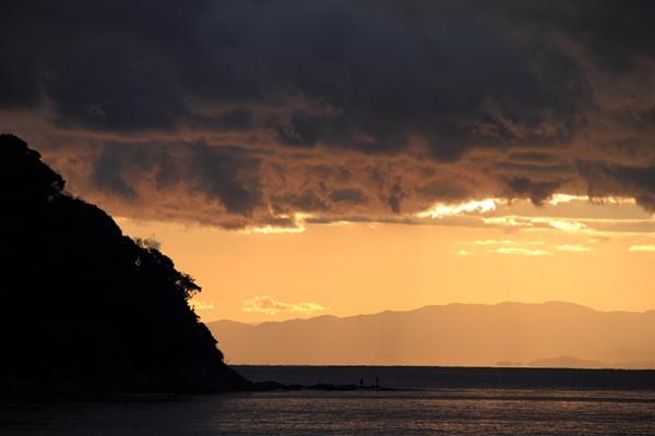 江の島の夕暮れ2