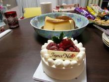 クリスマスケーキ&バケツプリン