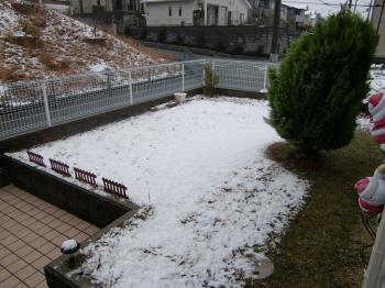 今年、初冠雪