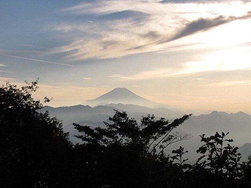 h 夕方の富士