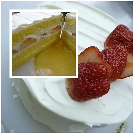 ショートケーキ(安食)でき上がり