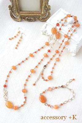 accessory +K オレンジカラー アクセサリー 3点