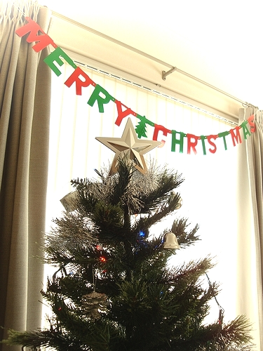 MERRY CHRISTMASも付けてみた