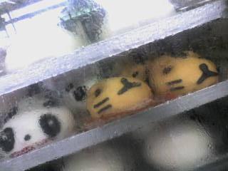 パンダ君の肉まん、寅まんと忙しいフリ1