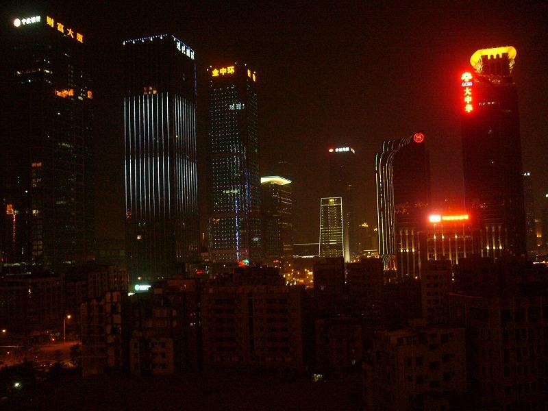 事務所前夜景