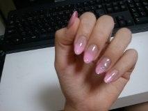 エアブラシのピンクぐらで
