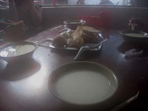 朝もやの朝食2