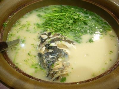 天目湖名物魚のスープ