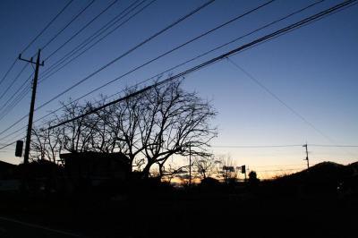 桐生の日没