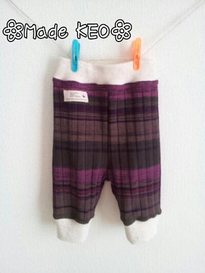 紫レギンス