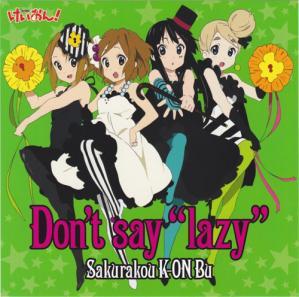 Dont say lazy