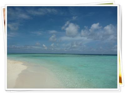 モルディブ浜辺