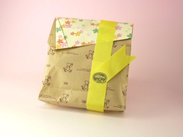 紙袋口のとじ方のアレンジ 3