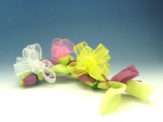 リボンの花オブジェ