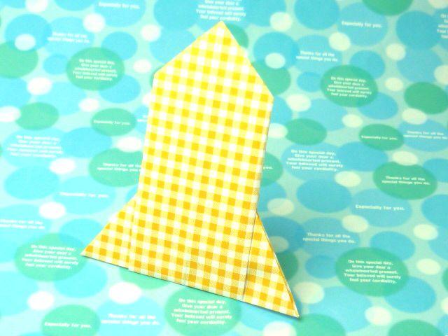 クリスマス 折り紙:折り紙 ロケット-allbk.blog46.fc2.com