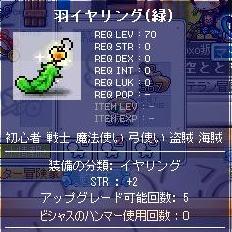 12・12羽イヤ緑1