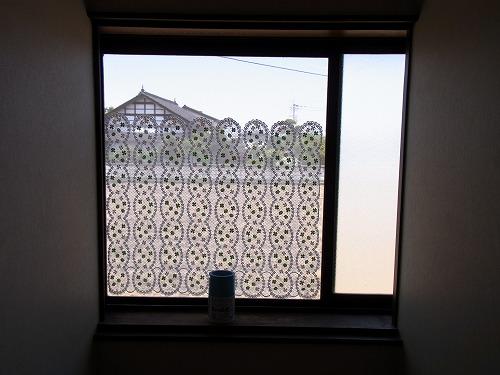 網戸とカーテンとの固定箇所