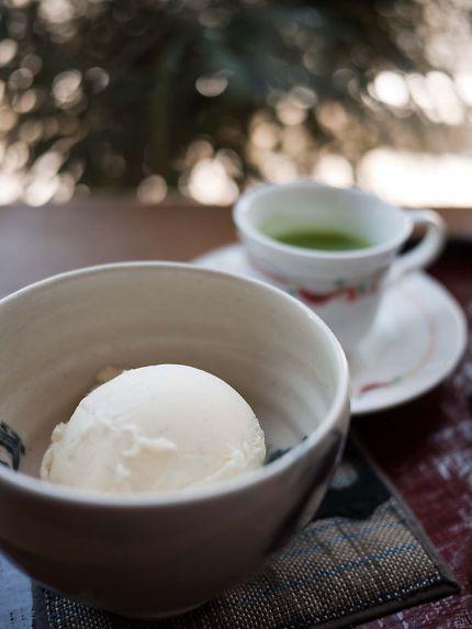 茶問屋 茶楽 抹茶のアフォガード アイス