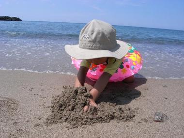 砂もきれい。