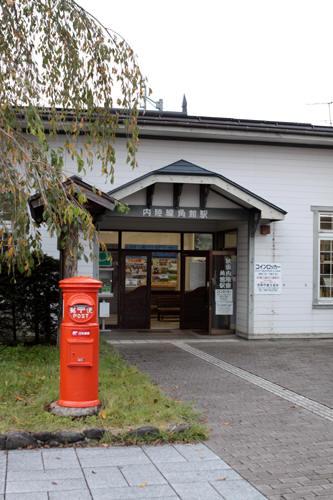 角館駅前の丸ポスト
