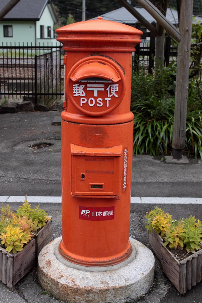 奈良井駅の丸ポスト 2