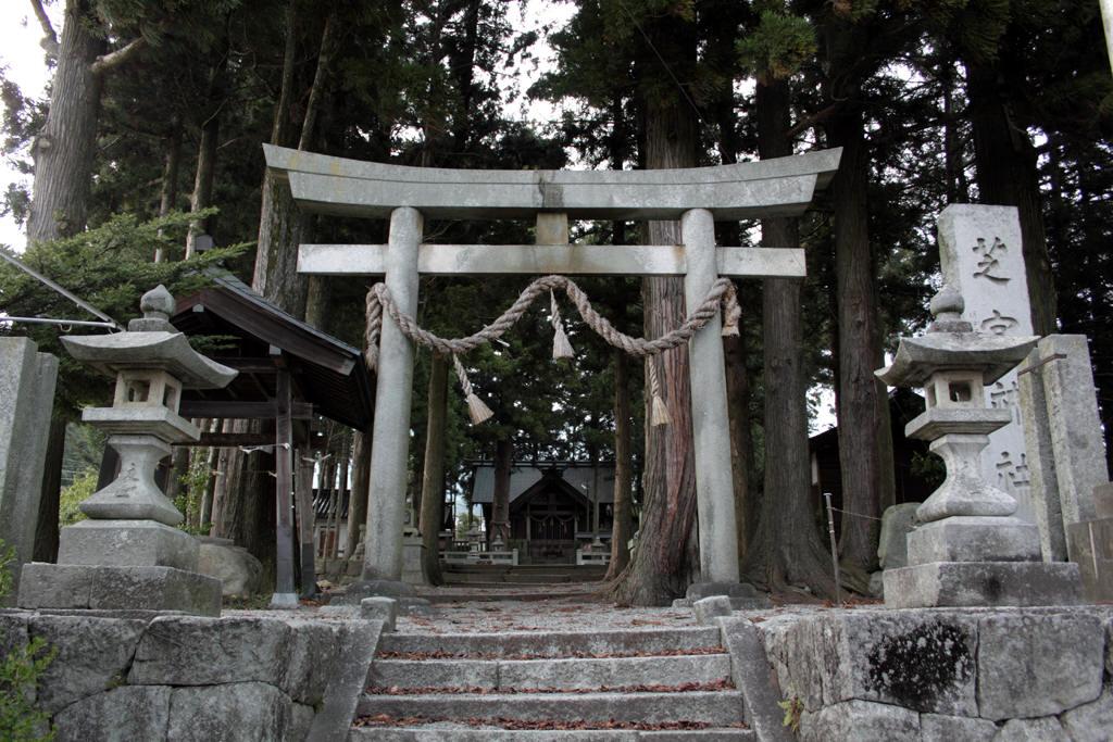 芝宮神社正面からの様子