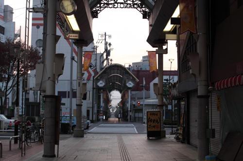 権堂町商店街アーケード