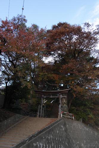 別角度の飯縄神社鳥居