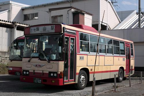 信州中野駅裏側の長電バス