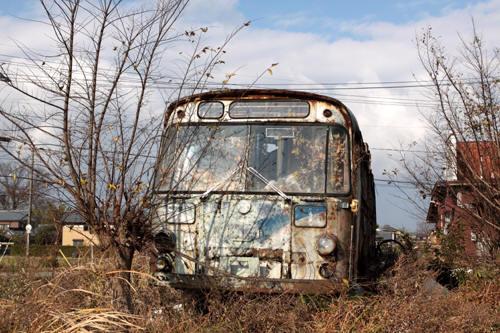 新潟交通のバス廃車体