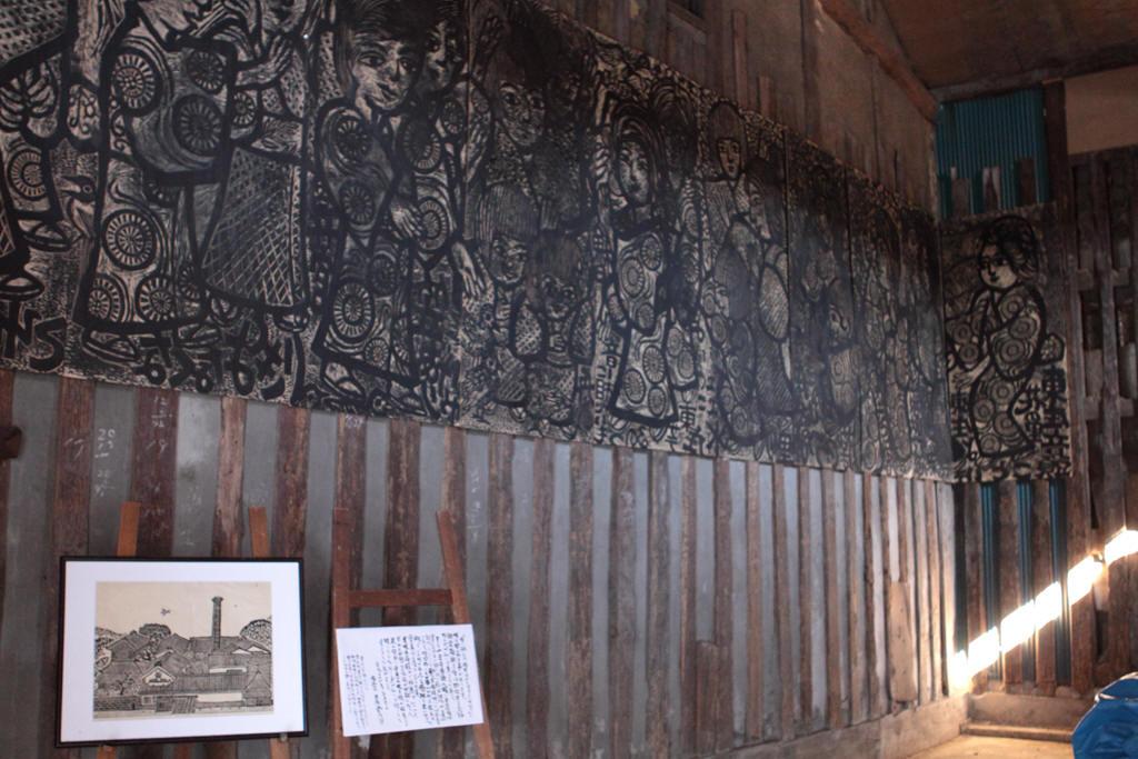 壁に描かれた絵