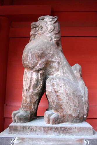 古瀬戸黄釉狛犬 吽