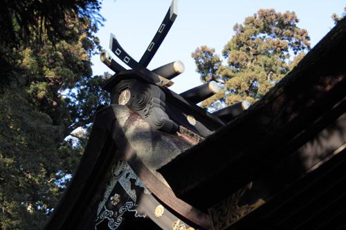 香取神宮の鰹木