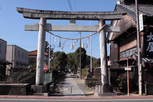 夷隅神社の鳥居