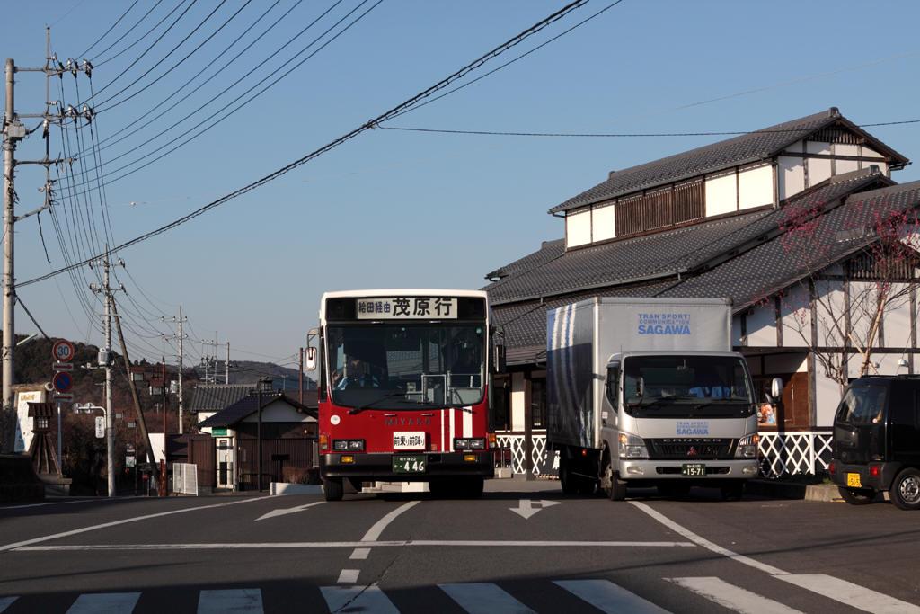 茂原行きバス発車