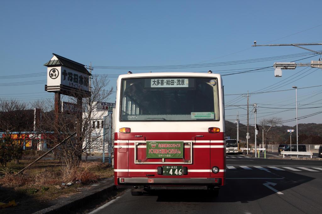 茂原行きの都バスの後ろ姿