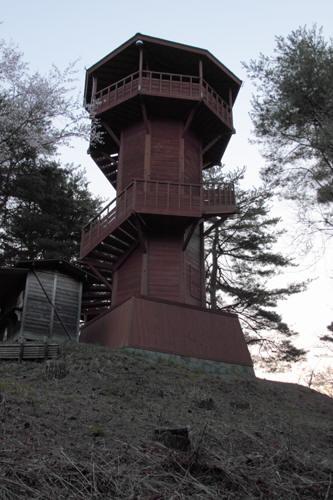 長峰山の展望台