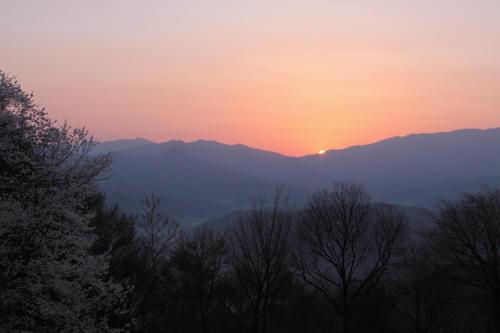 長峰山から見た日の出