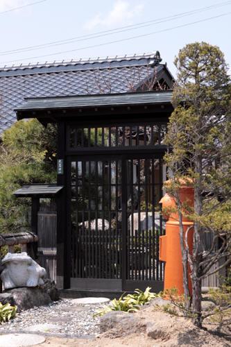 池田町の個人宅の丸ポスト