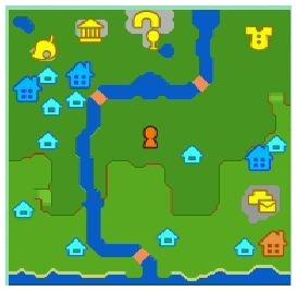 ウサギ村の地図